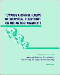 NSF Urban Sustainability Workshop Report